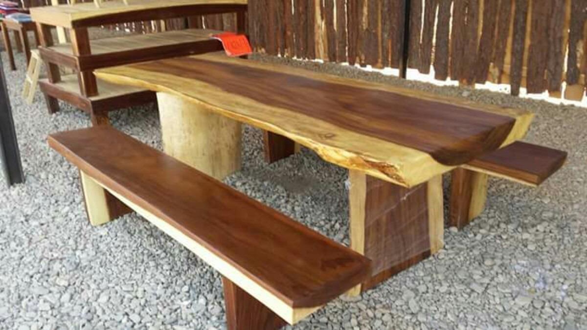 Mesa de madera de parota 32 en mercado libre - Mesas de maderas ...