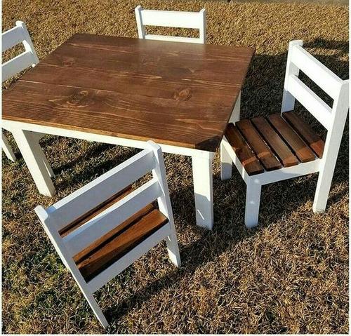 mesa de madera estilo palet