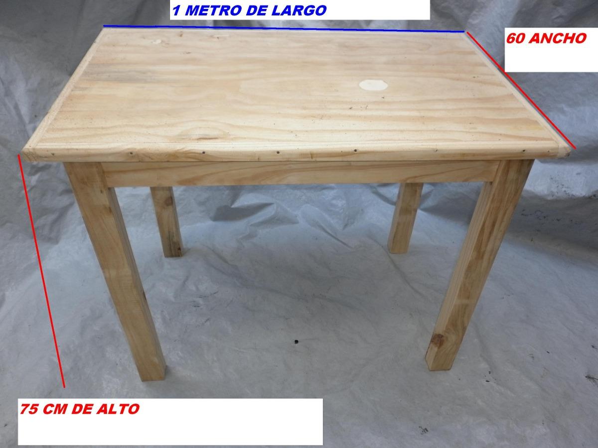 Mesa de madera juego de comedor escritorio 1 metro por 70 for Espejo de 1 metro por 2 metros