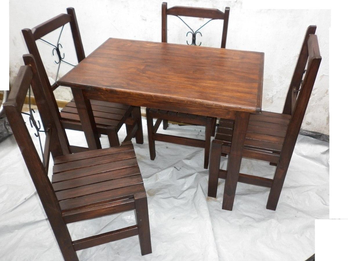 Mesa de madera juego de comedor escritorio 1 metro por 70 en mercado libre - Mesas de escritorio de madera ...