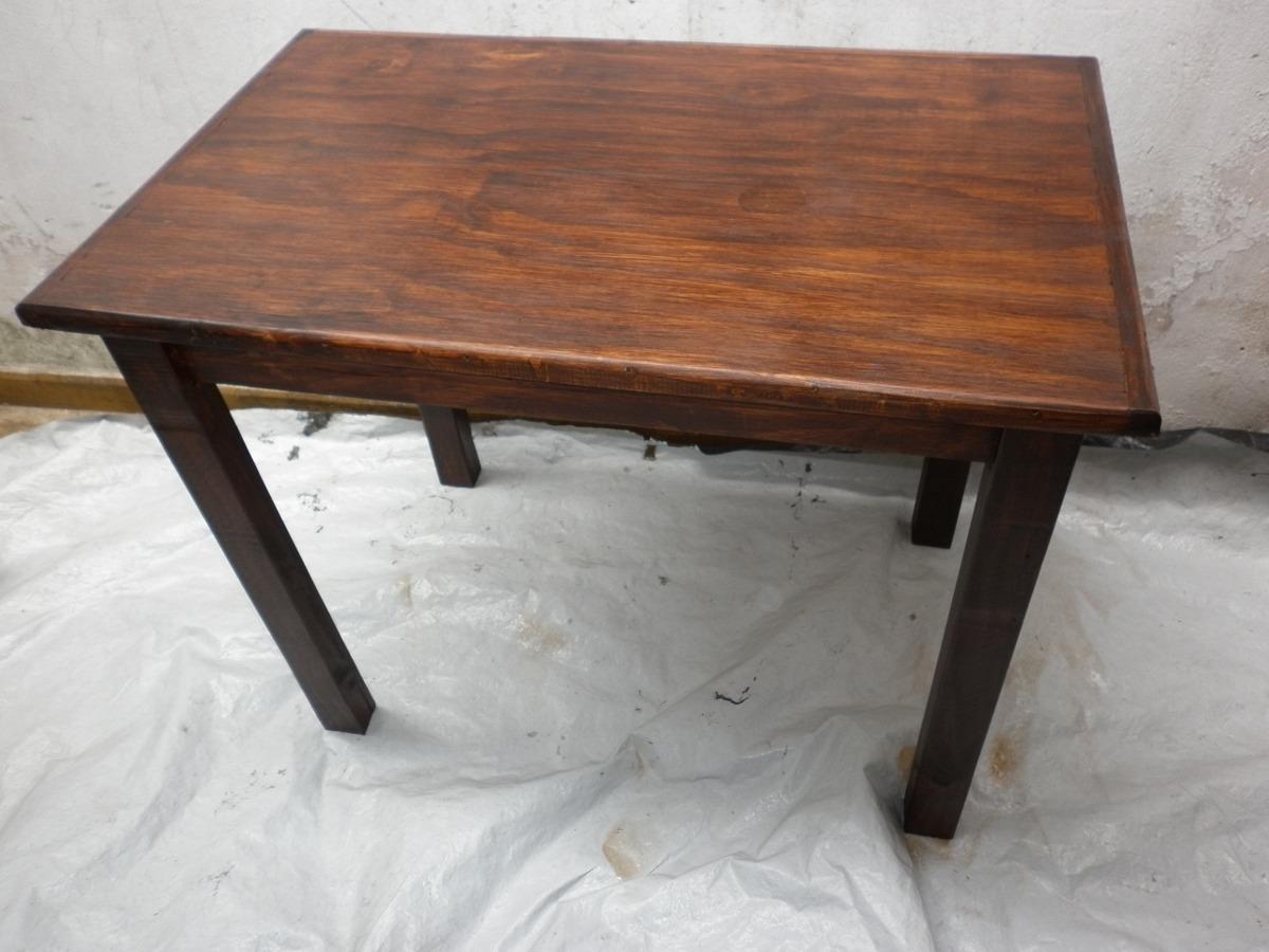 Mesa de madera juego de comedor escritorio 1 metro por 70 - Mesas de escritorio de madera ...