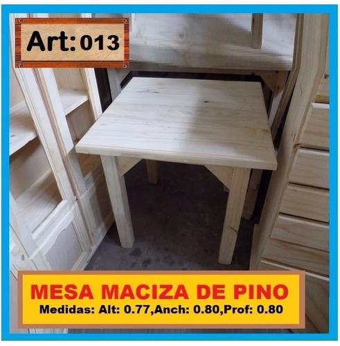 mesa de madera maciza  cocina