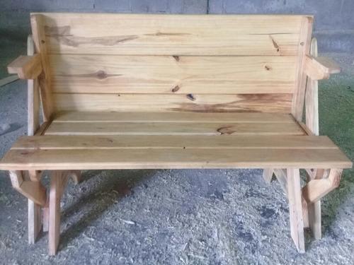 mesa de madera, mesa banco sillas de madera, mesa de picnic