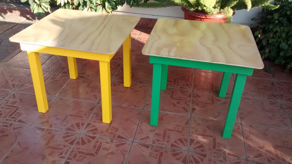 Mesa de madera para ni os cubierta barnizada en mercado libre - Mesas madera ninos ...