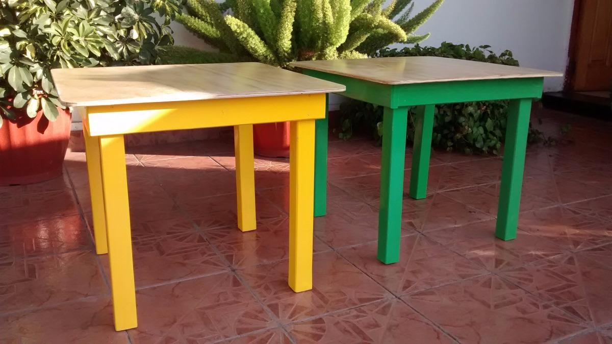 Mesa de madera para ni os cubierta barnizada - Mesas para ninos de plastico ...