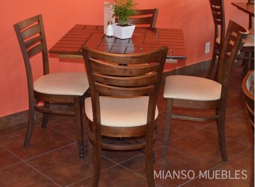 Mesa de madera para restaurantes bares y cafeterias for Restaurante madera