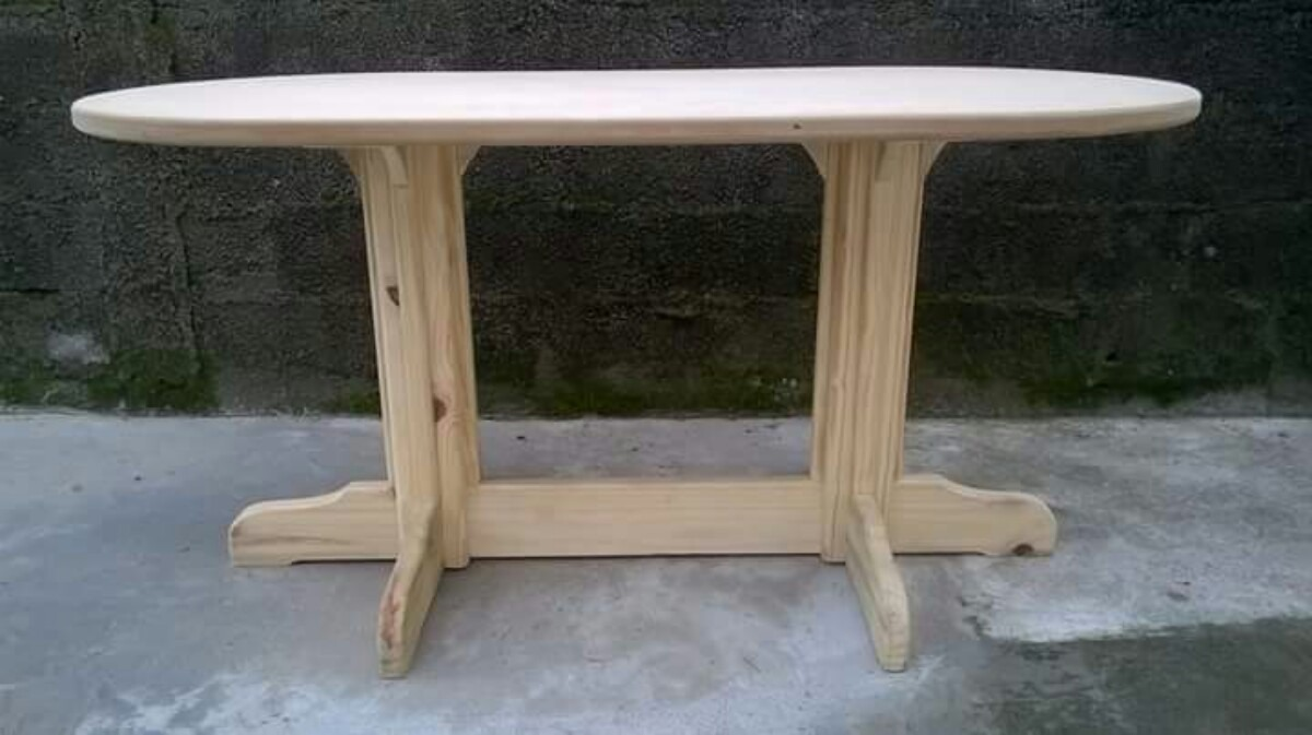Mesa de madera pino ovalada en mercado libre - Mesa madera pino ...