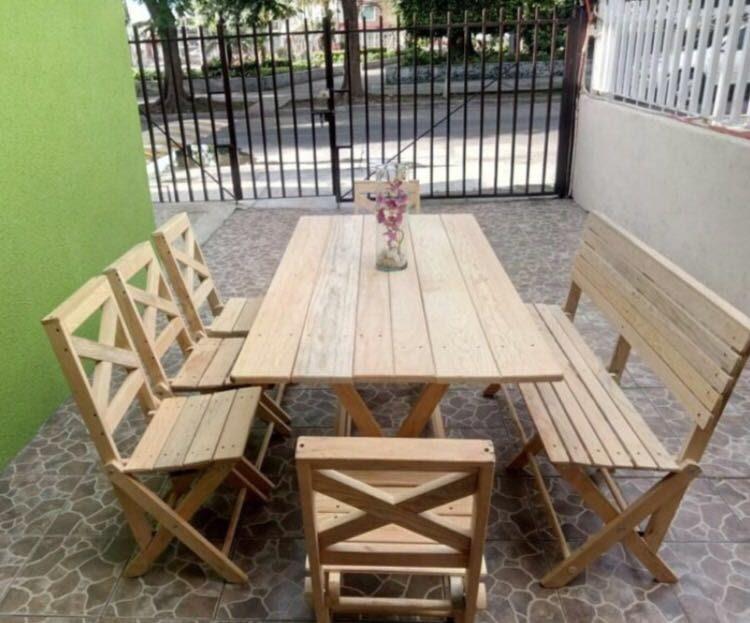 Mesa de madera plegable para comedor 1 en for Mesa plegable de madera