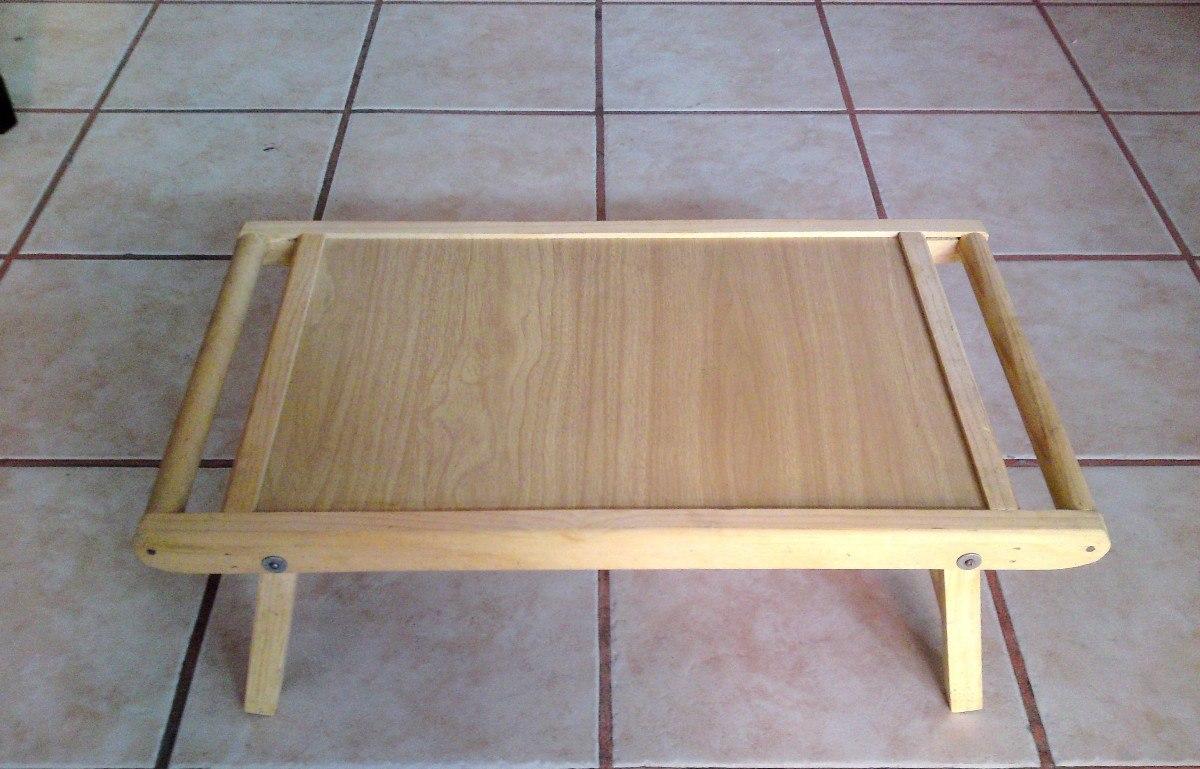 Mesa de madera plegable para servicio a cama o laptop - Mesa madera plegable ...