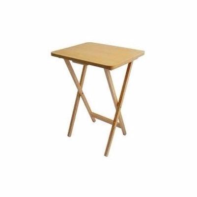 Mesa de madera portatil plegable mesa auxiliar multi usos for Mesa plegable de madera