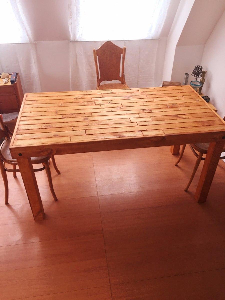 Mesa de madera rustica 150x80x75 en mercado libre - Mesa madera rustica ...
