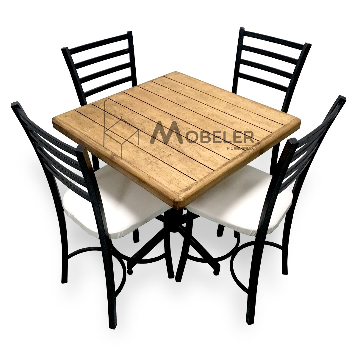 Mesa de madera sillas para restaurante bar cafeter a for Sillas de madera para bar