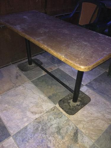 mesa de madera tipo tablón