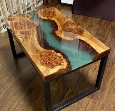 Mesa de madera y resina 8 en mercado libre - Mesas de exterior de resina ...