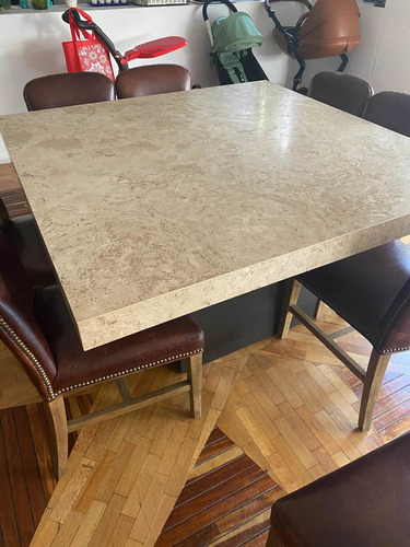 mesa de mármol para 8 sillas