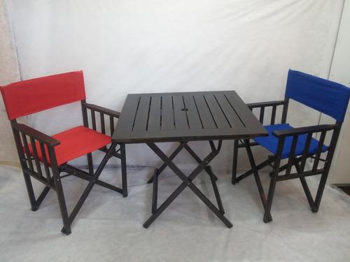 mesa de metal madera ideal, bar, jardín,casa,patio.