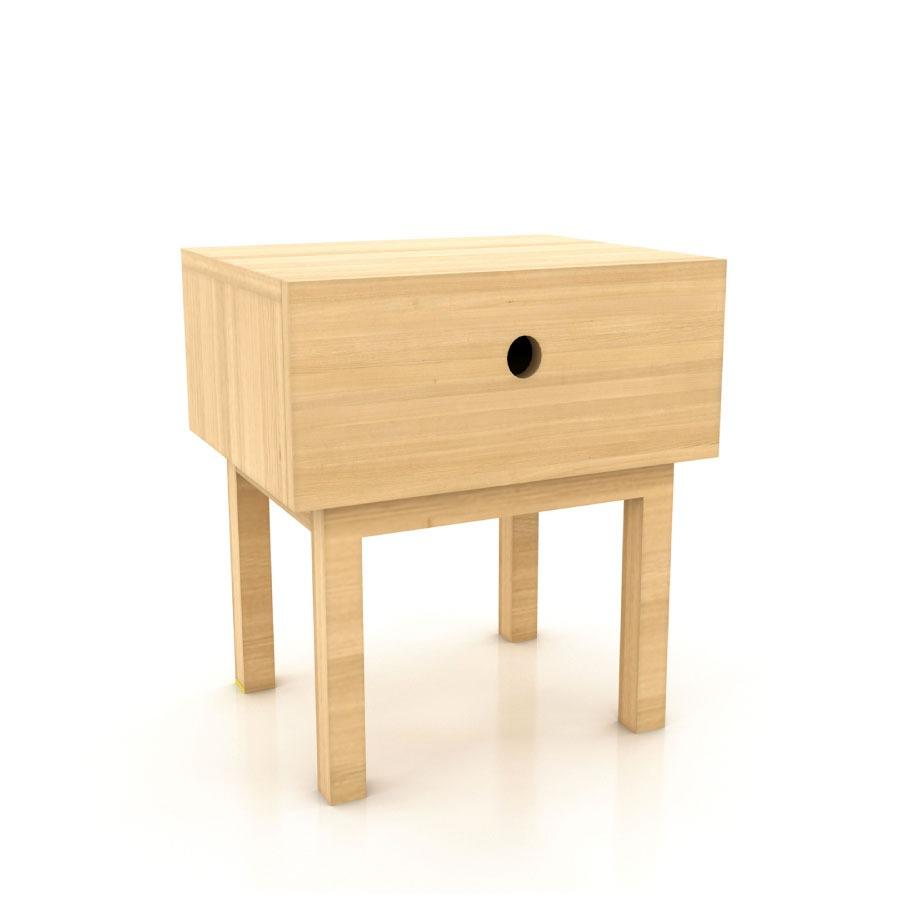 Mesa de noche dise o gibraltar bur de madera mdf polimob for Diseno de mesa de noche