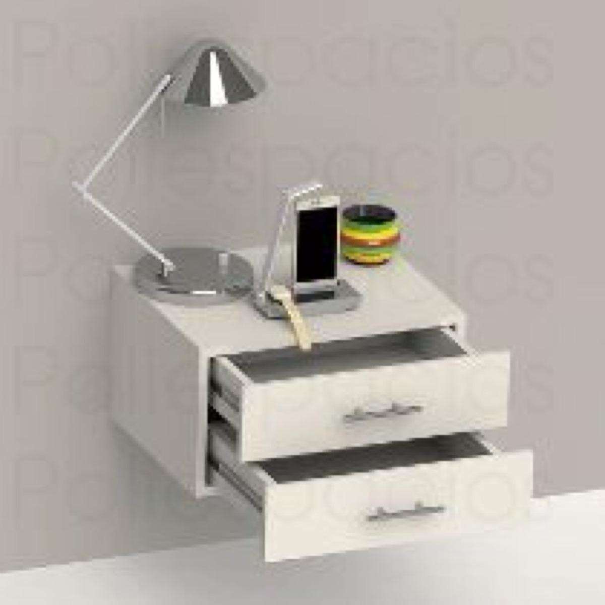 Mesa de noche flotante minimalista bs en - Mesitas de noche para espacios reducidos ...