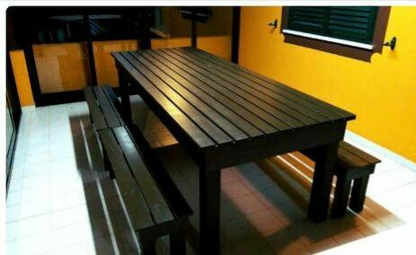 mesa de palet con bancos - Mesas De Palet
