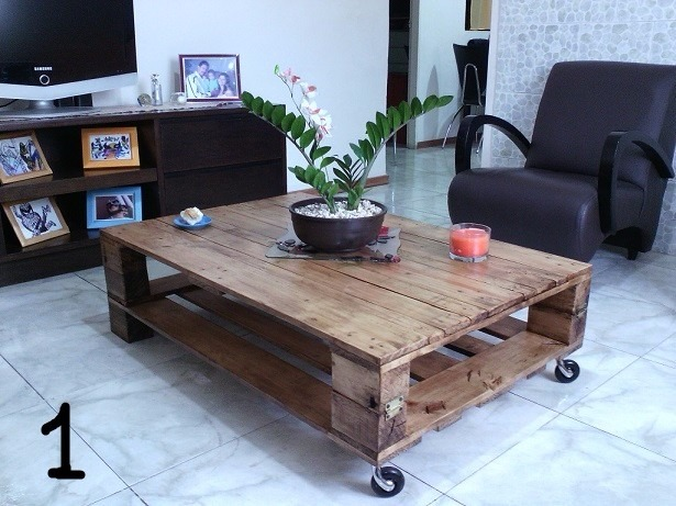 mesa de palets triple lijado y sellado envejecido - Mesas Con Palets