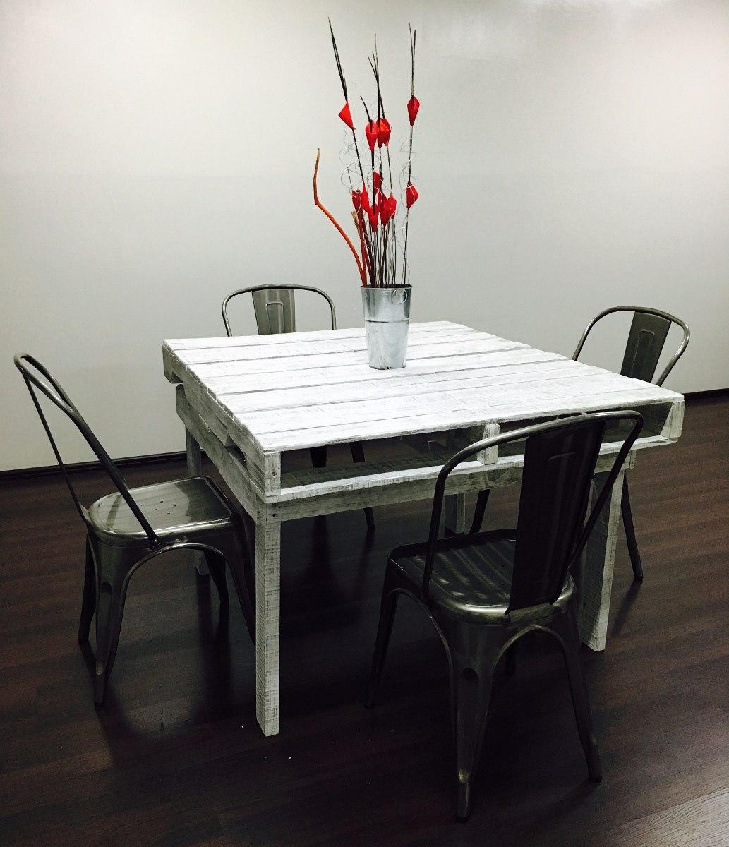 Mesa de pallets mesa vintage mesa reciclada mesa - Como hacer una mesa abatible ...