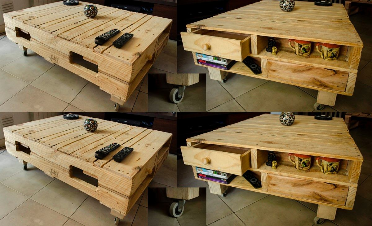 Muebles palets de madera good conjunto eur macetero - Disenos con palets ...