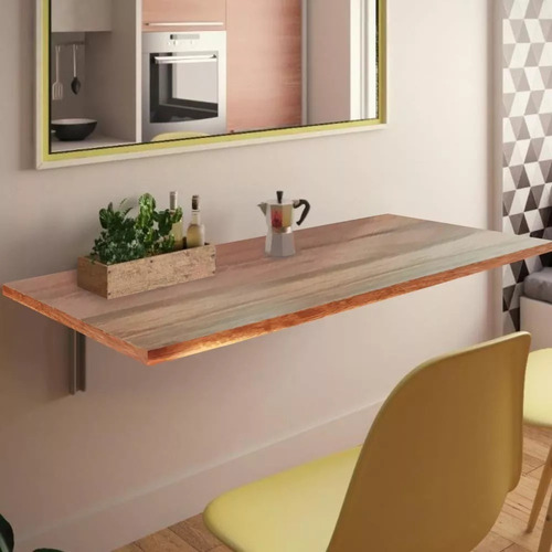 mesa de parede dobravel 50x30cm madeira não ocupa espaço