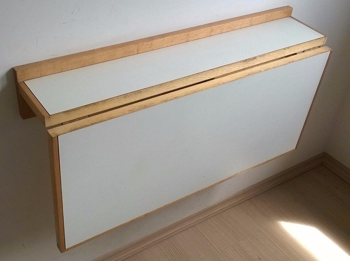 ddc2493c5 mesa de parede dobravel 80x50 em madeira. Carregando zoom.