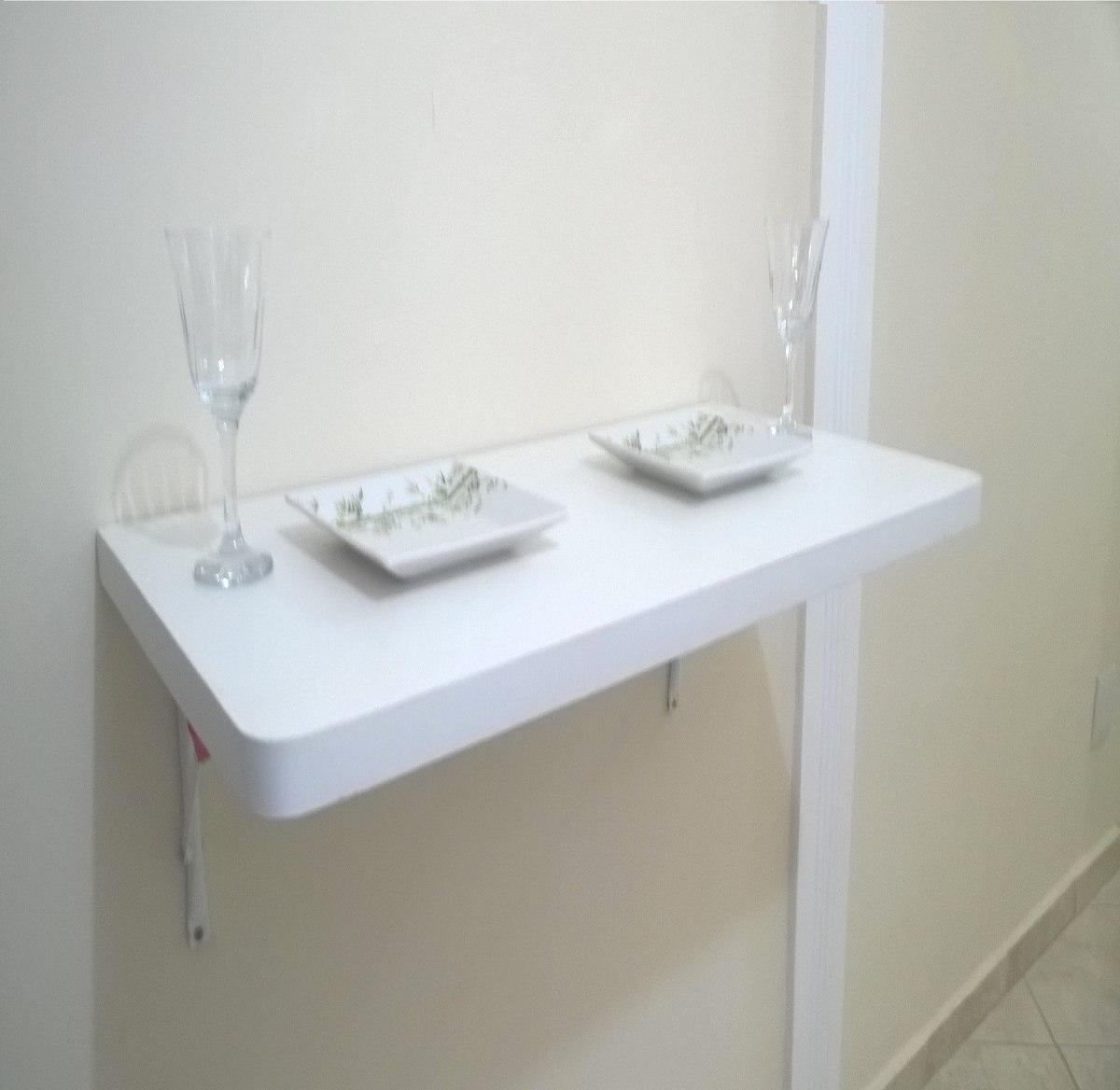 Mesa Em Parede ~ Mesa De Parede Dobrável 90cmx45cm Com Borda Dupla Branca R$ 105,00 em Mercado Livre