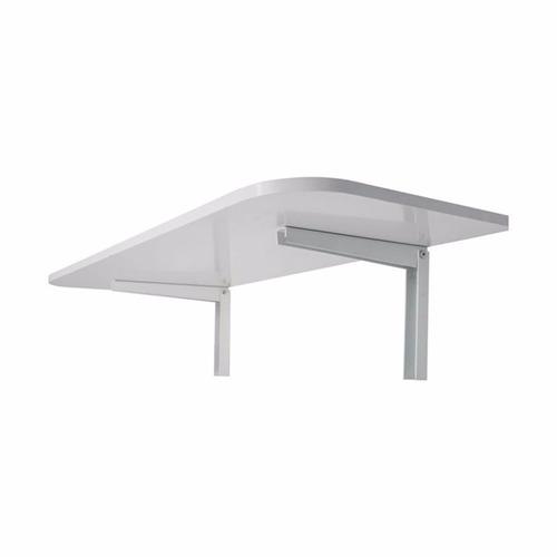 mesa de parede dobrável branca 50x100cm - capacidade 50kg