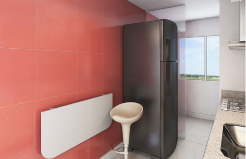 mesa de parede dobrável com suporte 90x40cm branca