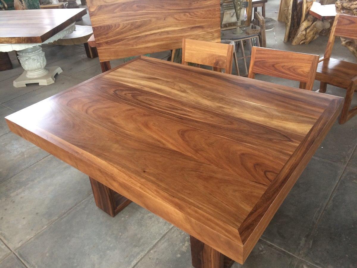 Mesa de parota 190x120 10 en mercado libre - Mesas rectangulares para comedor ...