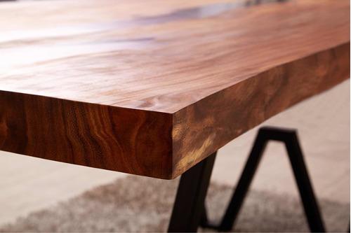 mesa de parota con resina epoxica negra