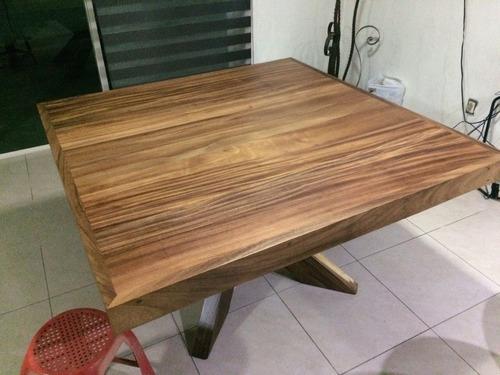 mesa de parota para 8 sillas