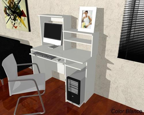 mesa de pc con alzada owen blanco escritorios 005-owen -400