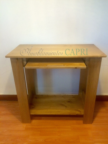 mesa de pc - escritorio 80x40cm estilo campo pino encerado