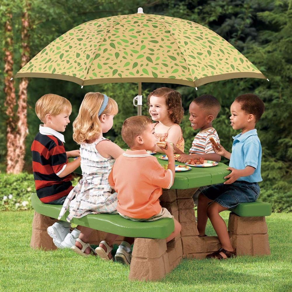 Mesa de picnic con parasol para ni os step 2 importados for Mesas para ninos en walmart