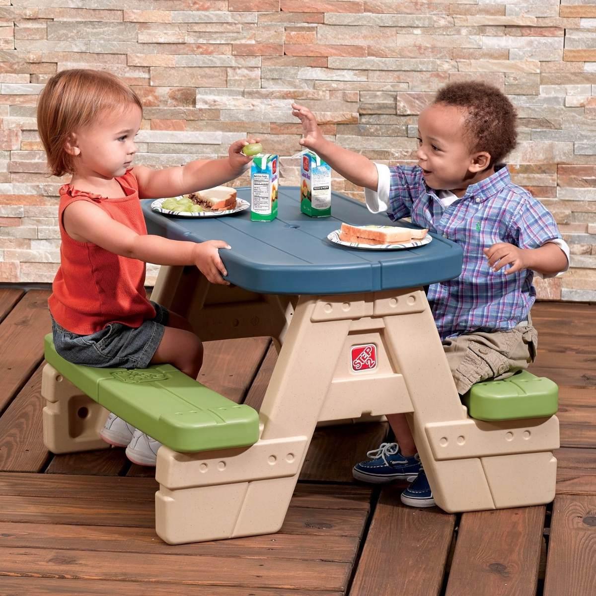 Mesa de picnic para ni os peque os step 2 2 en - Mesas para ninos pequenos ...