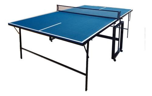 mesa de ping pong 12 mm fronton, plegable, incluye red
