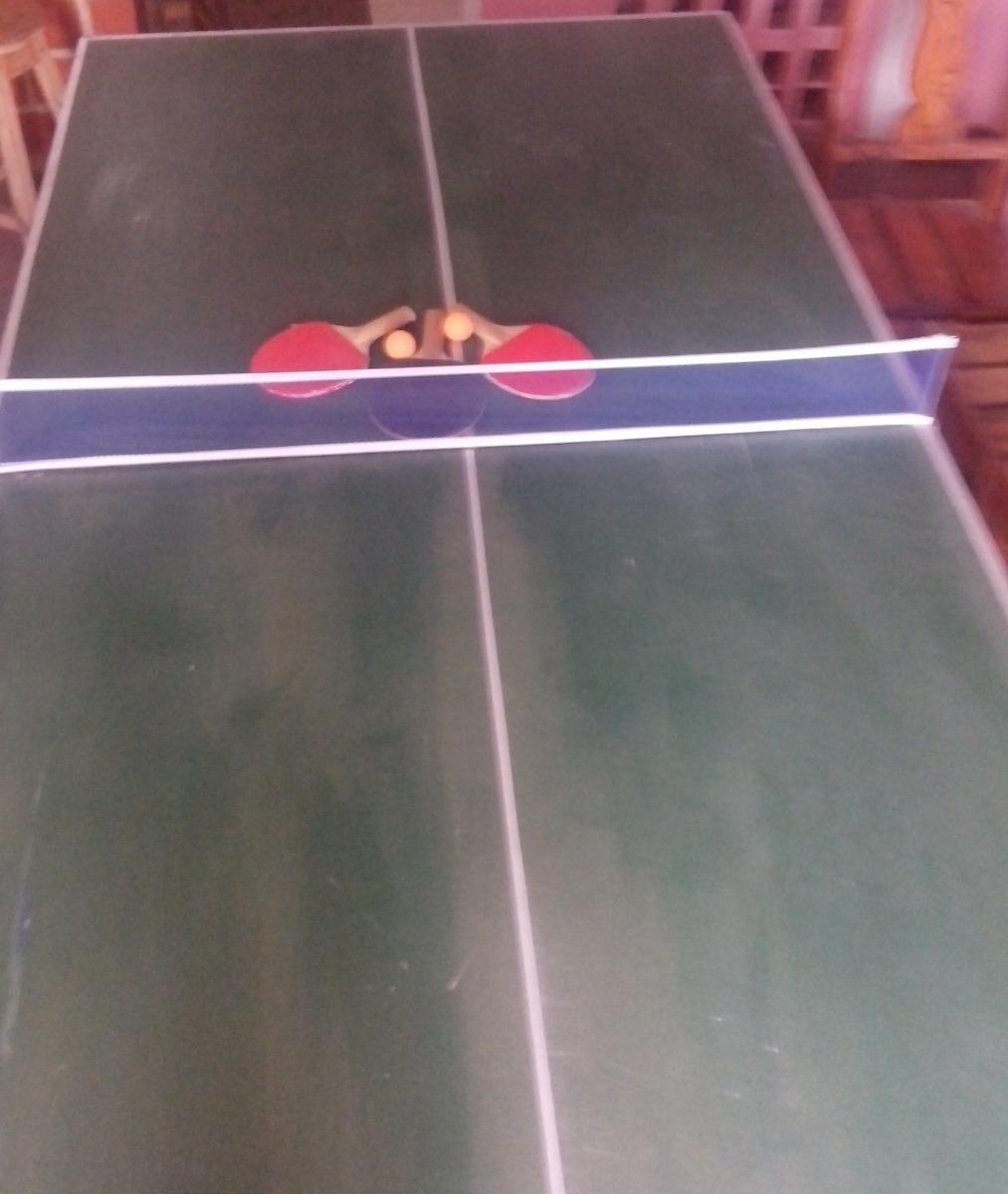 Mesa De Ping Pong Casera Oferta Malla Pelota Raqueta Bs 1 00 En
