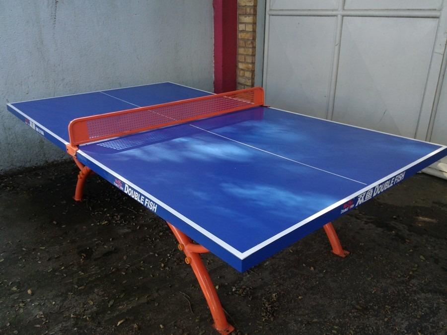 Mesa de ping pong double fish apta exterior sw 318 18 for Mesa ping pong exterior