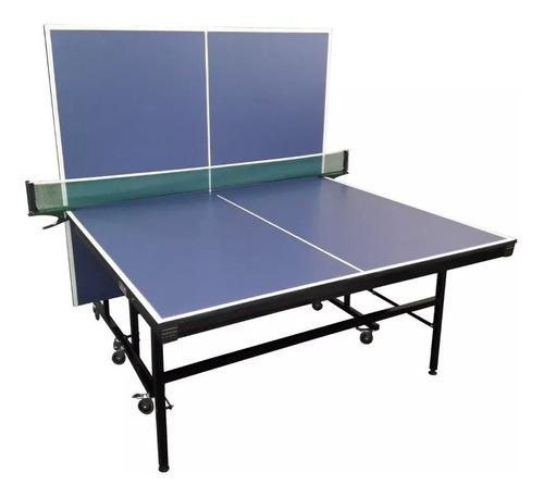 mesa de ping pong fronton f18 + soporte + red + blister
