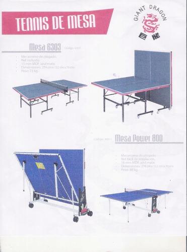 mesa de ping pong giant dragon  power 800-1 tenis de mesa