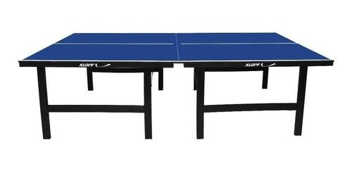 mesa de ping pong klopf 1001 azul