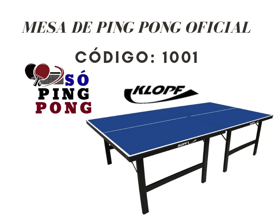 6595fb37c Mesa De Ping Pong - Klopf - Oficial - 15mm - Mdp - Cód. 1001 - R ...