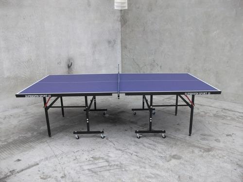 mesa de ping pong profesional + kit sunflex red paleta pelot