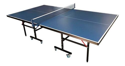 mesa de ping pong profesional reglamentaria tablero azul
