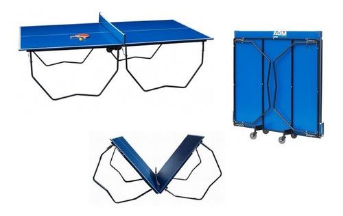 mesa de ping pong reglamentaria, plegable con ruedas