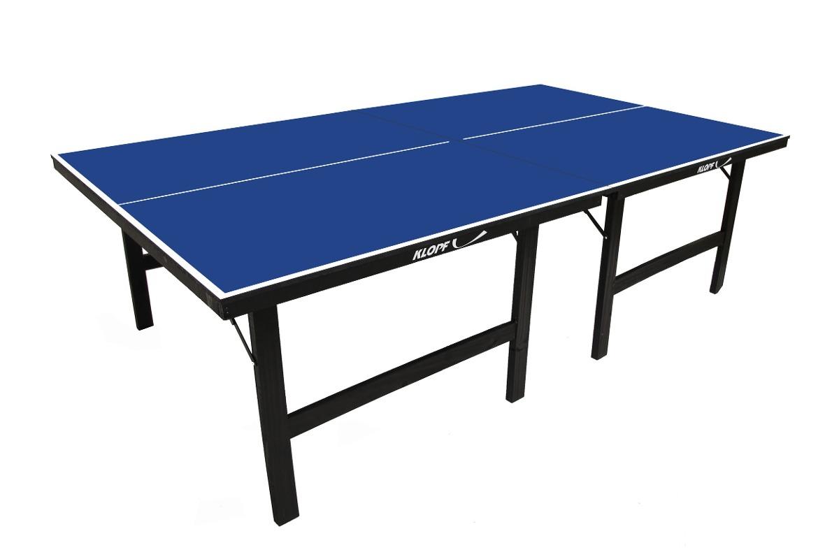 9287ea9daabe7 mesa de ping pong tenis mesa klopf 1002 18mm + kit raquetes. Carregando  zoom.