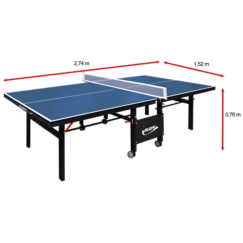 0d9304970 Mesa De Ping Pong   Tênis De Mesa Klopf - 18 Mm (azul) + Kit - R ...